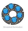 LXHL-NB97 - Luxeon 6 LED Ring LED - Blue Batwing, 50 lm @ 700mA