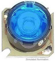 Luxeon Star/O LED - Blue Batwing, 16 lm @ 350mA