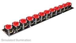Luxeon 12 LED Line LED - Red Lambertian, 450 lm @ 700mA
