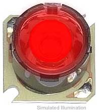 Luxeon Star/O LED - Red Batwing; 27 lm @ 350mA