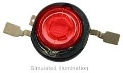 Luxeon III Emitter LED - Red Lambertian; 140 lm @ 1400mA
