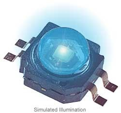 Luxeon K2 LED - Blue Lambertian; 21 lm @ 700mA