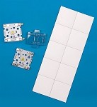 Pre-Cut, Thermal Adhesive Tape for 27 mm Square FLEX Modules - (10 Piece Sheet)