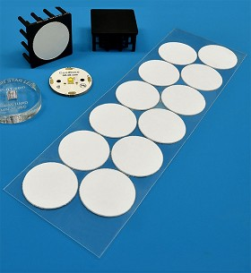 Pre-Cut, Thermal Adhesive Tape for 25 mm Round LED Assemblies - (12 Piece Sheet)