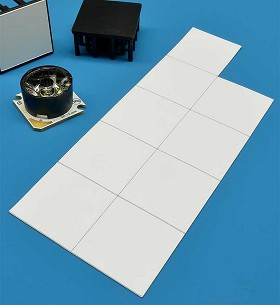 Pre-Cut, Thermal Adhesive Tape for 25 mm Square Star/O LED Assemblies - (9 Piece Sheet)