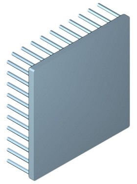 100 mm Square x 30 mm High Alpha Heat Sink - 1.6 °C/W