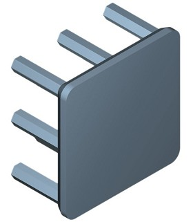 19 mm Square x 10 mm High Alpha Heat Sink - 21.0 °C/W