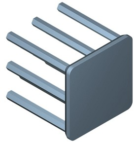 19 mm Square x 20 mm High Alpha Heat Sink - 17.0 °C/W