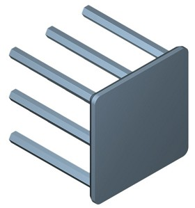 25 mm Square x 25 mm High Alpha Heat Sink - 13.25 °C/W