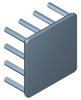 30 mm Square x 15 mm High Alpha Heat Sink - 12.0 °C/W