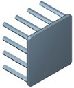 N30-20B - 30 mm Square x 20 mm High Alpha Heat Sink - 10.5 °C/W