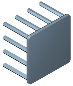 30 mm Square x 20 mm High Alpha Heat Sink - 10.5 °C/W