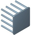 N30-25B - 30 mm Square x 25 mm High Alpha Heat Sink - 9.5 °C/W