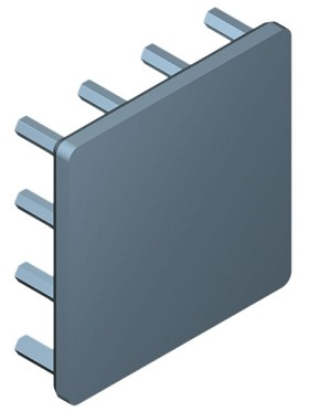 35 mm Square x 10 mm High Alpha Heat Sink - 12.1 °C/W