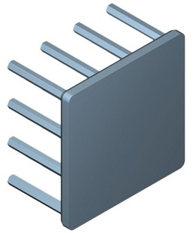 35 mm Square x 20 mm High Alpha Heat Sink - 9.2 °C/W