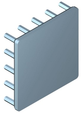 40 mm Square x 10 mm High Alpha Heat Sink - 10.2 °C/W