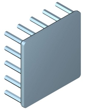 40 mm Square x 15 mm High Alpha Heat Sink - 8.3 °C/W