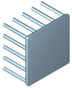 40 mm Square x 25 mm High Alpha Heat Sink - 6.6 °C/W