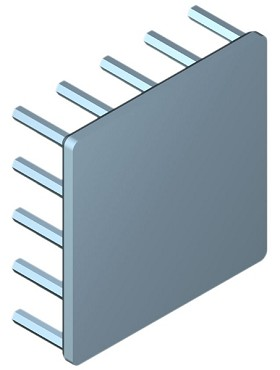 45 mm Square x 15 mm High Alpha Heat Sink - 7.3 °C/W