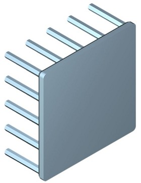 45 mm Square x 20 mm High Alpha Heat Sink - 6.4 °C/W