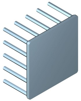 45 mm Square x 25 mm High Alpha Heat Sink - 5.7 °C/W