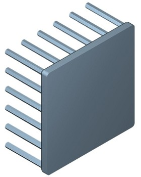 50 mm Square x 25 mm High Alpha Heat Sink - 4.7 °C/W