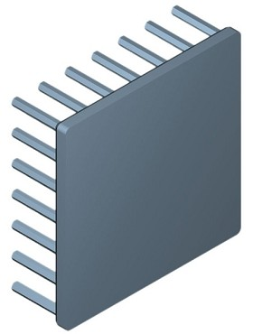 60 mm Square x 20 mm High Alpha Heat Sink - 3.95 °C/W