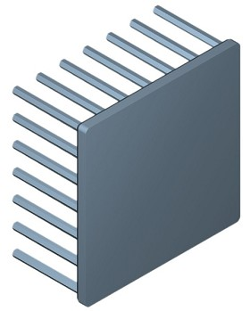 60 mm Square x 30 mm High Alpha Heat Sink - 3.15 °C/W