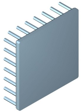 70 mm Square x 20 mm High Alpha Heat Sink - 3.25 °C/W