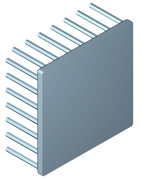 70 mm Square x 30 mm High Alpha Heat Sink - 2.5 °C/W