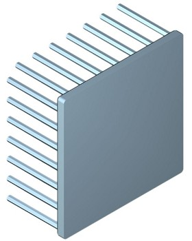 70 mm Square x 35 mm High Alpha Heat Sink - 2.3 °C/W