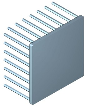 70 mm Square x 40 mm High Alpha Heat Sink - 2.2 °C/W