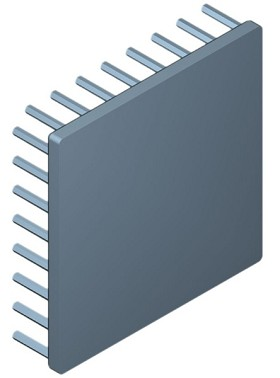 80 mm Square x 20 mm High Alpha Heat Sink - 2.85 °C/W