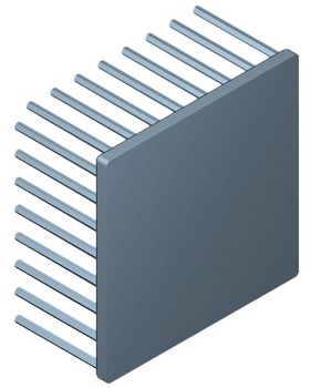 80 mm Square x 40 mm High Alpha Heat Sink - 1.85 °C/W