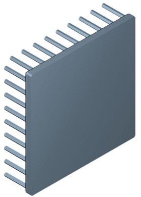 90 mm Square x 25 mm High Alpha Heat Sink - 2.15 °C/W
