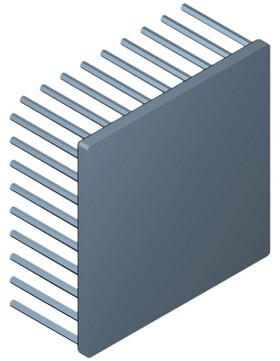 90 mm Square x 40 mm High Alpha Heat Sink - 1.6 °C/W