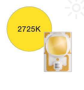 ANSI White (2725K) LUXEON A LED - 160 lm @ 700mA