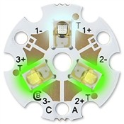Predefined Tri-Star LED - Cool White (180 lm) / Green (161 lm) / Green (161 lm)