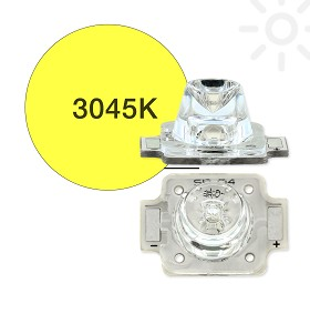 ANSI White (3045K) LUXEON A LED, Mounted on a 11.1 x 15.9 Rectangular CoolBase - 174 lm @ 700mA