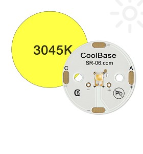 ANSI White (3045K) LUXEON A LED; Mounted on a 25mm Round CoolBase - 174 lm @ 700mA